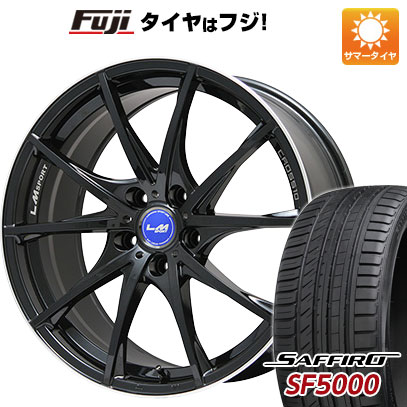 タイヤはフジ 送料無料 LEHRMEISTER レアマイスター LMスポーツクロス10 ブラックパール 8.5J 8.50-20 SAFFIRO サフィーロ SF5000(限定) 245/40R20 20インチ サマータイヤ ホイール4本セット