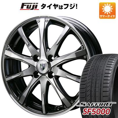 タイヤはフジ 送料無料 BLEST ブレスト バーンシュポルト タイプ504 7J 7.00-17 SAFFIRO サフィーロ SF5000(限定) 205/50R17 17インチ サマータイヤ ホイール4本セット