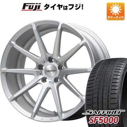 タイヤはフジ 送料無料 MLJ ハイペリオン CVX 8J 8.00-18 SAFFIRO サフィーロ SF5000(限定) 235/55R18 18インチ サマータイヤ ホイール4本セット