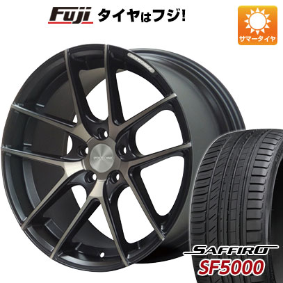 タイヤはフジ 送料無料 SPORT TECHNIC スポーツテクニック M-005 8.5J 8.50-19 SAFFIRO サフィーロ SF5000(限定) 235/35R19 19インチ サマータイヤ ホイール4本セット