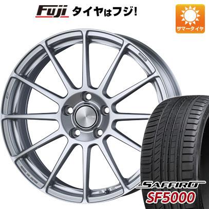 タイヤはフジ 送料無料 ENKEI エンケイ PF03 7.5J 7.50-18 SAFFIRO サフィーロ SF5000(限定) 225/45R18 18インチ サマータイヤ ホイール4本セット