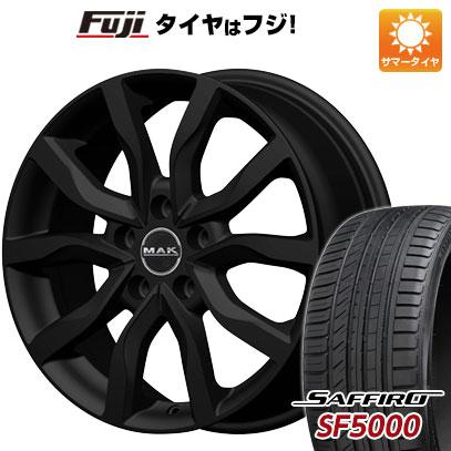 タイヤはフジ 送料無料 MAK ケルン 7J 7.00-17 SAFFIRO サフィーロ SF5000(限定) 215/55R17 17インチ サマータイヤ ホイール4本セット