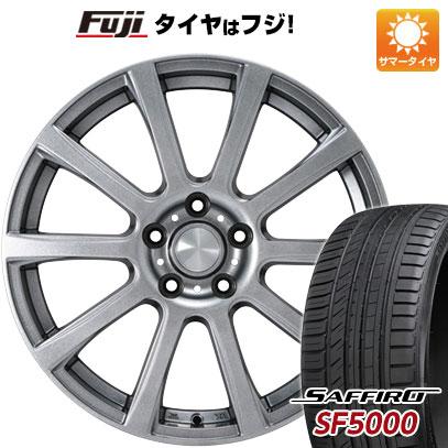 タイヤはフジ 送料無料 カジュアルセット タイプB17 メタリックグレー 6.5J 6.50-16 SAFFIRO サフィーロ SF5000(限定) 205/60R16 16インチ サマータイヤ ホイール4本セット