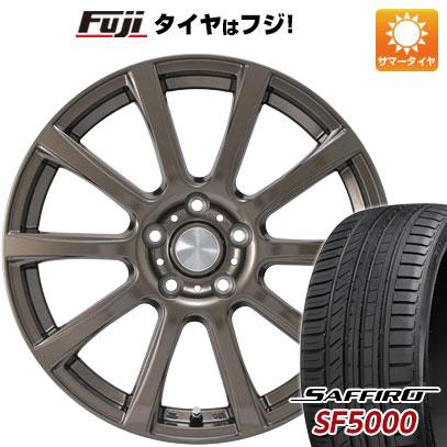 タイヤはフジ 送料無料 カジュアルセット タイプB17 ブロンズ 7.5J 7.50-18 SAFFIRO サフィーロ SF5000(限定) 235/50R18 18インチ サマータイヤ ホイール4本セット