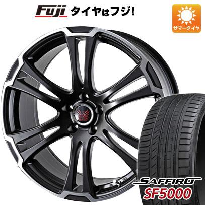 タイヤはフジ 送料無料 ALGERNON アルジェノン フェニーチェ TW-1 7.5J 7.50-19 SAFFIRO サフィーロ SF5000(限定) 225/40R19 19インチ サマータイヤ ホイール4本セット