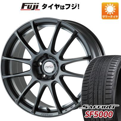 タイヤはフジ 送料無料 5ZIGEN ゴジゲン PROレーサーZ-1 7.5J 7.50-18 SAFFIRO サフィーロ SF5000(限定) 225/55R18 18インチ サマータイヤ ホイール4本セット