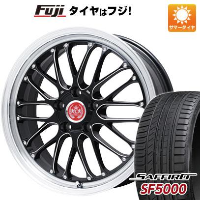 タイヤはフジ 送料無料 LEHRMEISTER レアマイスター ブルネッロ(ブラックエッジブラッシュド) 7.5J 7.50-19 SAFFIRO サフィーロ SF5000(限定) 225/40R19 19インチ サマータイヤ ホイール4本セット