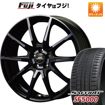 タイヤはフジ 送料無料 MID シュナイダー DR-01 8J 8.00-18 SAFFIRO サフィーロ SF5000(限定) 235/45R18 18インチ サマータイヤ ホイール4本セット
