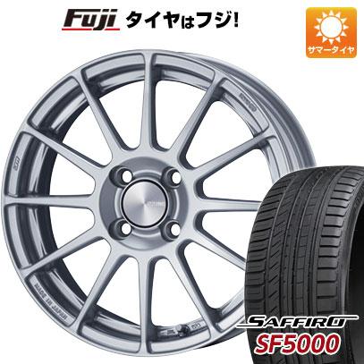 タイヤはフジ 送料無料 ENKEI エンケイ PF03 6J 6.00-15 SAFFIRO サフィーロ SF5000(限定) 185/55R15 15インチ サマータイヤ ホイール4本セット