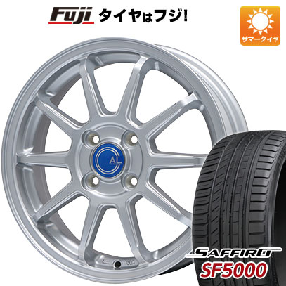 タイヤはフジ 送料無料 BRANDLE ブランドル M60 5.5J 5.50-15 SAFFIRO サフィーロ SF5000(限定) 185/55R15 15インチ サマータイヤ ホイール4本セット