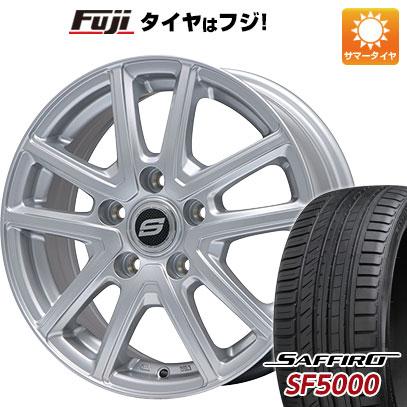 タイヤはフジ 送料無料 BRANDLE ブランドル M61 7J 7.00-17 SAFFIRO サフィーロ SF5000(限定) 225/55R17 17インチ サマータイヤ ホイール4本セット