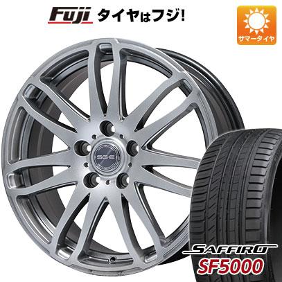 タイヤはフジ 送料無料 BRANDLE ブランドル G72 7.5J 7.50-18 SAFFIRO サフィーロ SF5000(限定) 225/55R18 18インチ サマータイヤ ホイール4本セット