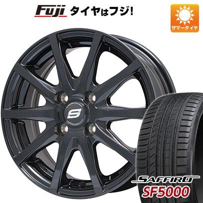 タイヤはフジ 送料無料 BRANDLE ブランドル M71B 5.5J 5.50-14 SAFFIRO サフィーロ SF5000(限定) 185/65R14 14インチ サマータイヤ ホイール4本セット