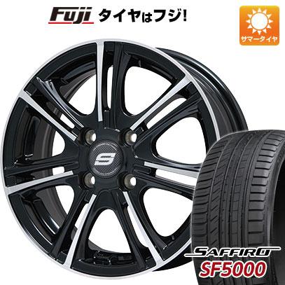 タイヤはフジ 送料無料 BRANDLE ブランドル M68BP 5.5J 5.50-14 SAFFIRO サフィーロ SF5000(限定) 175/65R14 14インチ サマータイヤ ホイール4本セット