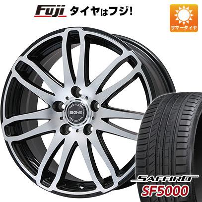タイヤはフジ 送料無料 BRANDLE ブランドル G72B 7.5J 7.50-18 SAFFIRO サフィーロ SF5000(限定) 225/55R18 18インチ サマータイヤ ホイール4本セット