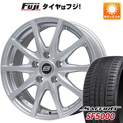 タイヤはフジ 送料無料 BRANDLE ブランドル M71 6J 6.00-16 SAFFIRO サフィーロ SF5000(限定) 205/55R16 16インチ サマータイヤ ホイール4本セット