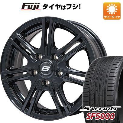 タイヤはフジ 送料無料 BRANDLE ブランドル M68B 6J 6.00-15 SAFFIRO サフィーロ SF5000(限定) 205/65R15 15インチ サマータイヤ ホイール4本セット