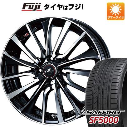 タイヤはフジ 送料無料 WEDS ウェッズ レオニス VT 5.5J 5.50-14 SAFFIRO サフィーロ SF5000(限定) 185/65R14 14インチ サマータイヤ ホイール4本セット