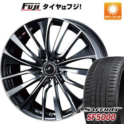 タイヤはフジ 送料無料 WEDS ウェッズ レオニス VT 7.5J 7.50-19 SAFFIRO サフィーロ SF5000(限定) 225/40R19 19インチ サマータイヤ ホイール4本セット