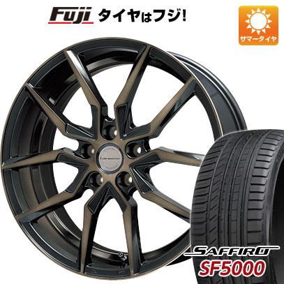 タイヤはフジ 送料無料 LEHRMEISTER レアマイスター サフレディ(ブラックポリッシュブロンズクリア) 8J 8.00-20 SAFFIRO サフィーロ SF5000(限定) 245/40R20 20インチ サマータイヤ ホイール4本セット