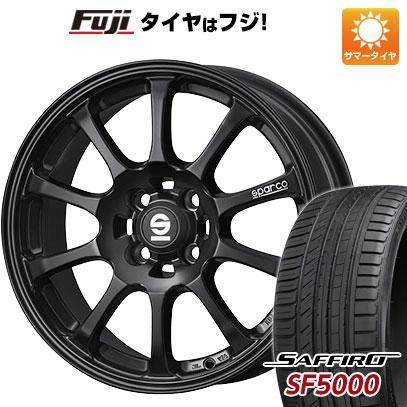 タイヤはフジ 送料無料 OZ SPARCO ドリフト 6.5J 6.50-15 SAFFIRO サフィーロ SF5000(限定) 185/55R15 15インチ サマータイヤ ホイール4本セット