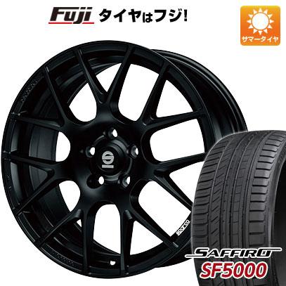 タイヤはフジ 送料無料 OZ SPARCO プロコルサ 8J 8.00-18 SAFFIRO サフィーロ SF5000(限定) 235/45R18 18インチ サマータイヤ ホイール4本セット