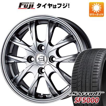 タイヤはフジ 送料無料 TECHNOPIA テクノピア アフロディーテ GX 5.5J 5.50-14 SAFFIRO サフィーロ SF5000(限定) 185/65R14 14インチ サマータイヤ ホイール4本セット