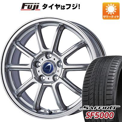 タイヤはフジ 送料無料 TECHNOPIA テクノピア アルテミス LSW 7.5J 7.50-18 SAFFIRO サフィーロ SF5000(限定) 235/55R18 18インチ サマータイヤ ホイール4本セット