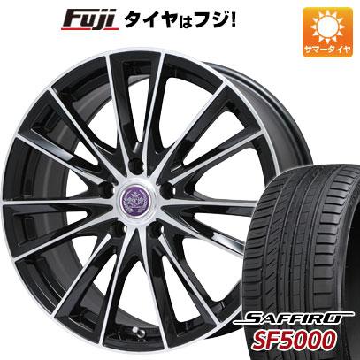 タイヤはフジ 送料無料 BRANDLE ブランドル 485B 8J 8.00-19 SAFFIRO サフィーロ SF5000(限定) 235/35R19 19インチ サマータイヤ ホイール4本セット