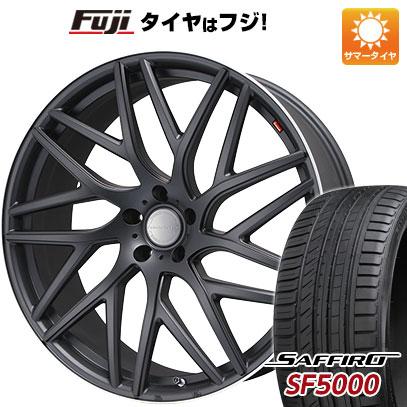 タイヤはフジ 送料無料 LEHRMEISTER レアマイスター キャンティ(マットブラック/リムポリッシュ) 8J 8.00-20 SAFFIRO サフィーロ SF5000(限定) 245/40R20 20インチ サマータイヤ ホイール4本セット