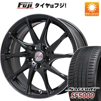 タイヤはフジ 送料無料 LEHRMEISTER レアマイスター LMスポーツクロス10 マシニングブラッククリア 7.5J 7.50-18 SAFFIRO サフィーロ SF5000(限定) 225/45R18 18インチ サマータイヤ ホイール4本セット