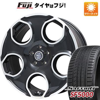 タイヤはフジ 送料無料 PREMIX プレミックス ギア(パールブラックポリッシュ) 8.5J 8.50-20 SAFFIRO サフィーロ SF5000(限定) 225/35R20 20インチ サマータイヤ ホイール4本セット