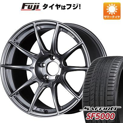 タイヤはフジ 送料無料 SSR GTX01 8.5J 8.50-18 SAFFIRO サフィーロ SF5000(限定) 235/45R18 18インチ サマータイヤ ホイール4本セット