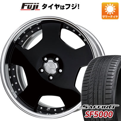 タイヤはフジ 送料無料 WORK ワーク ランベック LD1 8J 8.00-19 SAFFIRO サフィーロ SF5000(限定) 225/40R19 19インチ サマータイヤ ホイール4本セット