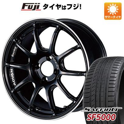 タイヤはフジ 送料無料 YOKOHAMA ヨコハマ アドバンレーシング RZII 5.5J 5.50-15 SAFFIRO サフィーロ SF5000(限定) 185/55R15 15インチ サマータイヤ ホイール4本セット