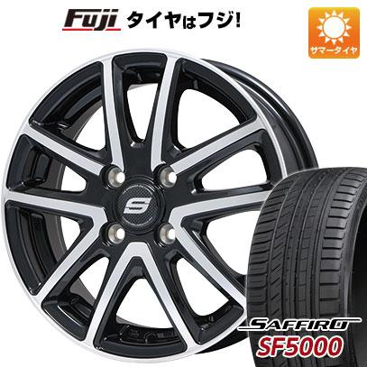 タイヤはフジ 送料無料 BRANDLE ブランドル M61BP 5.5J 5.50-14 SAFFIRO サフィーロ SF5000(限定) 175/65R14 14インチ サマータイヤ ホイール4本セット