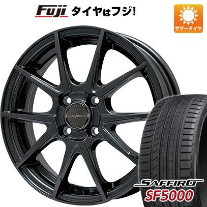 タイヤはフジ 送料無料 BIGWAY ビッグウエイ LEYBAHN WGS 5.5J 5.50-15 SAFFIRO サフィーロ SF5000(限定) 185/55R15 15インチ サマータイヤ ホイール4本セット