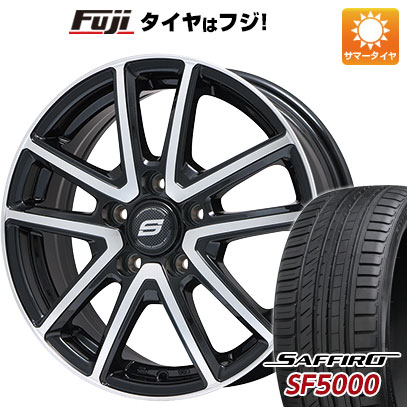 タイヤはフジ 送料無料 BRANDLE ブランドル M61BP 7.5J 7.50-18 SAFFIRO サフィーロ SF5000(限定) 225/55R18 18インチ サマータイヤ ホイール4本セット