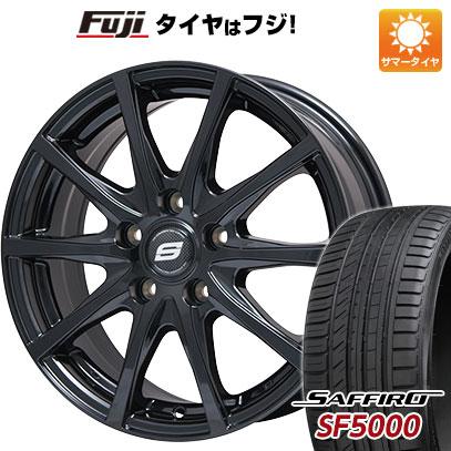 タイヤはフジ 送料無料 BRANDLE ブランドル M71B 6J 6.00-15 SAFFIRO サフィーロ SF5000(限定) 205/65R15 15インチ サマータイヤ ホイール4本セット