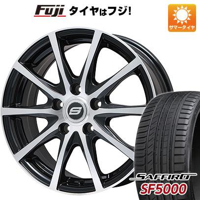タイヤはフジ 送料無料 BRANDLE ブランドル M71BP 6J 6.00-15 SAFFIRO サフィーロ SF5000(限定) 195/65R15 15インチ サマータイヤ ホイール4本セット