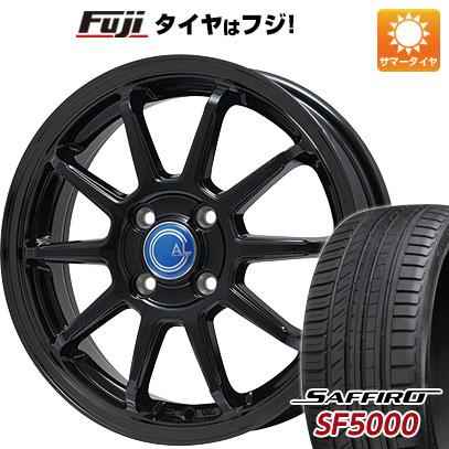 タイヤはフジ 送料無料 BRANDLE-LINE ブランドルライン カルッシャー ブラック 5.5J 5.50-15 SAFFIRO サフィーロ SF5000(限定) 185/65R15 15インチ サマータイヤ ホイール4本セット