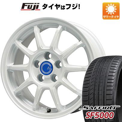タイヤはフジ 送料無料 BRANDLE-LINE ブランドルライン カルッシャー ホワイト 6J 6.00-15 SAFFIRO サフィーロ SF5000(限定) 205/65R15 15インチ サマータイヤ ホイール4本セット