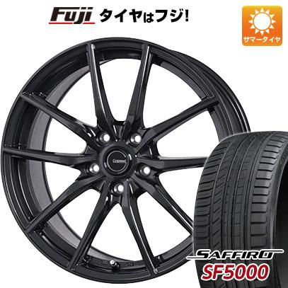 タイヤはフジ 送料無料 HOT STUFF ホットスタッフ ジースピード G-02 7J 7.00-17 SAFFIRO サフィーロ SF5000(限定) 205/50R17 17インチ サマータイヤ ホイール4本セット