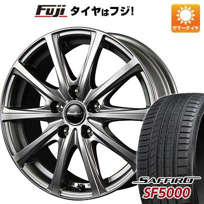 タイヤはフジ 送料無料 MID ユーロスピード V25 6J 6.00-15 SAFFIRO サフィーロ SF5000(限定) 205/65R15 15インチ サマータイヤ ホイール4本セット