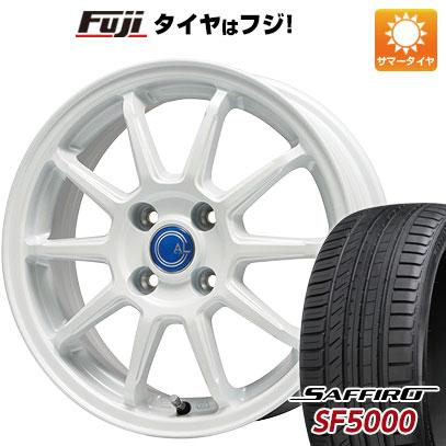 タイヤはフジ 送料無料 BRANDLE-LINE ブランドルライン カルッシャー ホワイト 5.5J 5.50-15 SAFFIRO サフィーロ SF5000(限定) 185/55R15 15インチ サマータイヤ ホイール4本セット