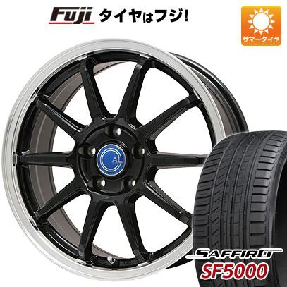 タイヤはフジ 送料無料 BRANDLE-LINE ブランドルライン カルッシャー ブラック/リムポリッシュ 7.5J 7.50-18 SAFFIRO サフィーロ SF5000(限定) 215/40R18 18インチ サマータイヤ ホイール4本セット