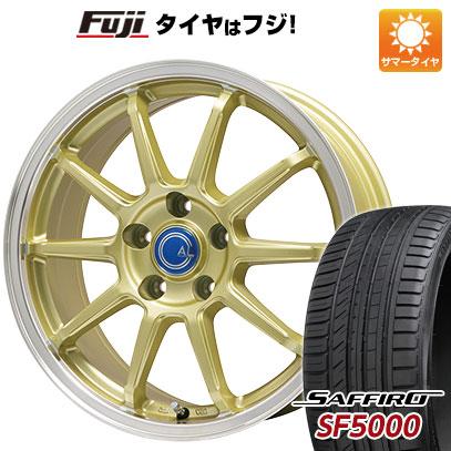タイヤはフジ 送料無料 BRANDLE-LINE ブランドルライン カルッシャー ゴールド/リムポリッシュ 6J 6.00-15 SAFFIRO サフィーロ SF5000(限定) 205/65R15 15インチ サマータイヤ ホイール4本セット