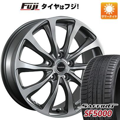 タイヤはフジ 送料無料 BRIDGESTONE ブリヂストン バルミナ TR10 6.5J 6.50-16 SAFFIRO サフィーロ SF5000(限定) 195/55R16 16インチ サマータイヤ ホイール4本セット