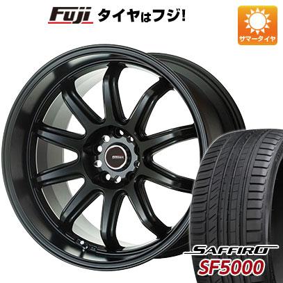 タイヤはフジ 送料無料 5ZIGEN ゴジゲン ファイヤーボールダブルアール 7J 7.00-17 SAFFIRO サフィーロ SF5000(限定) 205/45R17 17インチ サマータイヤ ホイール4本セット