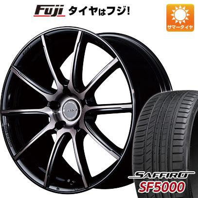 タイヤはフジ 送料無料 RAYS レイズ グラムライツ アズール57GMA 7.5J 7.50-18 SAFFIRO サフィーロ SF5000(限定) 215/40R18 18インチ サマータイヤ ホイール4本セット